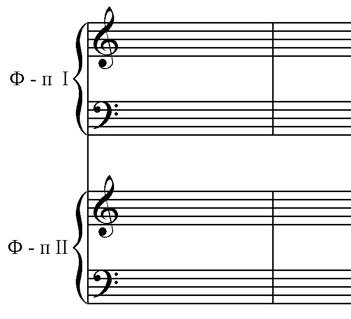 акколады и тактовые черты
